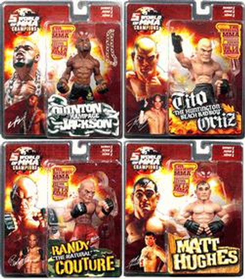 UFC World of MMA Champions Series 1 Set of 4 Action Figures