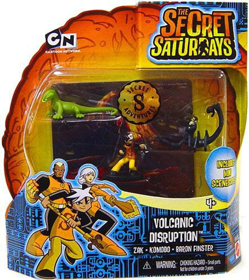 The Secret Saturdays Volcanic Disruption Mini Figure 3-Pack