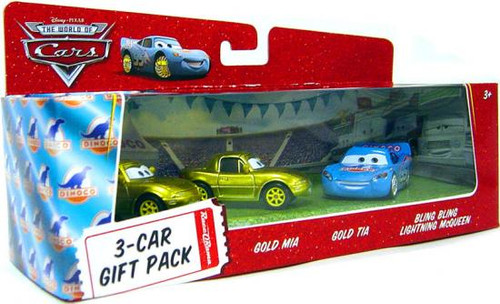 Disney Cars The World of Cars Multi-Packs Bling Bling McQueen 3-Car Gift Pack Diecast Car Set