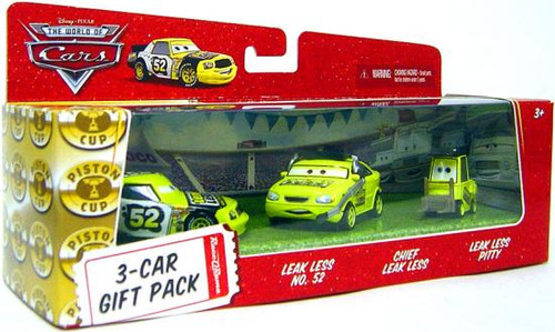 Disney Cars The World of Cars Multi-Packs Team Leak Less 3-Car Gift Pack Diecast Car Set