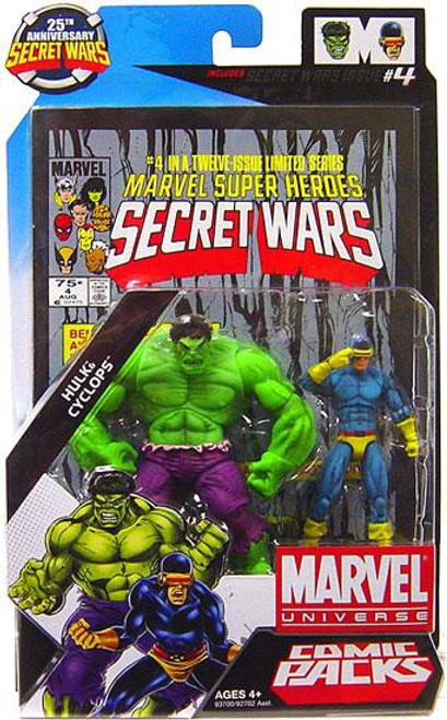 Marvel Universe 25th Anniversary Secret Wars Comic Packs Hulk & Cyclops Action Figure 2-Pack #4