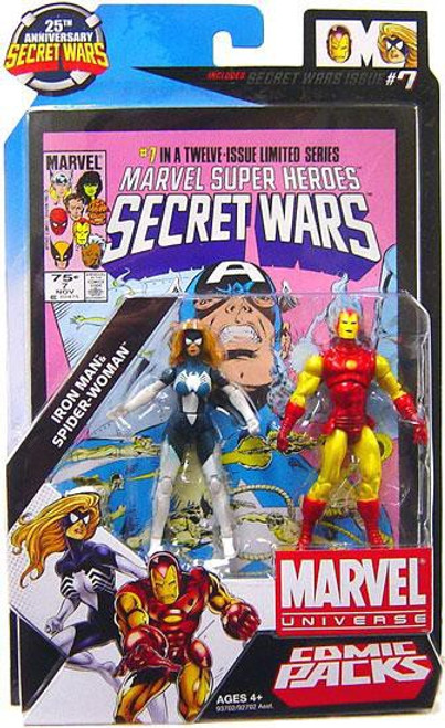 Marvel Universe 25th Anniversary Secret Wars Comic Packs Iron Man & Spider-Woman Action Figure 2-Pack #7