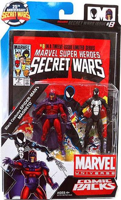 Marvel Universe 25th Anniversary Secret Wars Comic Packs Magneto & Black Costume Spider-Man Action Figure 2-Pack #8]