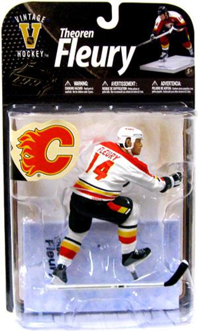 McFarlane Toys NHL Calgary Flames Sports Picks Legends Series 8 Theo Fleury Action Figure [White Jersey Variant]