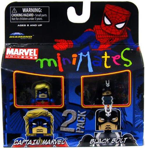 Marvel Universe Minimates Series 31 Black Bolt & Captain Marvel Minifigure 2-Pack