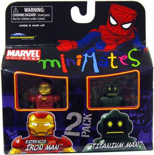 Marvel Universe Minimates Series 32 Extremis Iron Man & Titanium Man Minifigure 2-Pack
