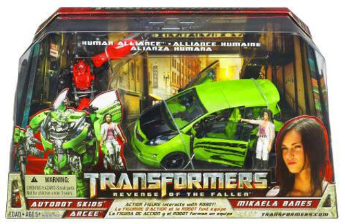 Transformers Revenge of the Fallen Human Alliance Autobot Skids with Mikaela Banes & Arcee Action Figure Set