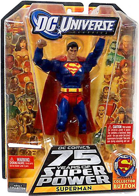 DC Universe 75 Years of Super Power Classics Superman Action Figure [Collector Button]
