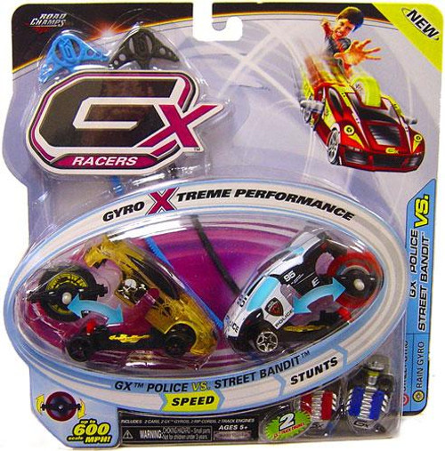 GX Racers Speed GX Police vs. Street Bandit Plastic Car 2-Pack