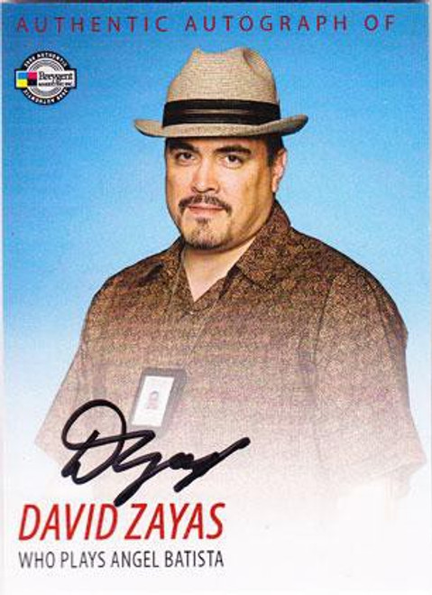 Dexter David Zayas Autograph Card DA5 [Angel Batista]