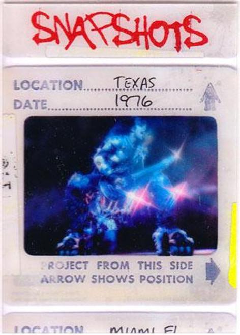 KISS 360 Degrees Snapshots Card Texas 1976 #8/12