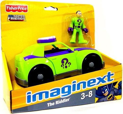 Fisher Price DC Super Friends Batman Imaginext The Riddler Exclusive 3-Inch Figure Set [Riddler Car]