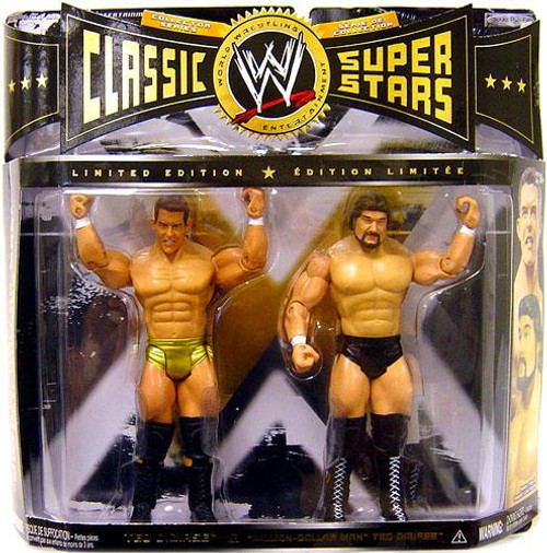 """WWE Wrestling Classic Superstars Limited Editions Ted Dibiase Jr. & """"Million Dollar Man"""" Ted Dibiase Action Figure 2-Pack"""