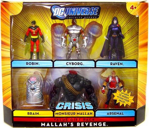 DC Universe Crisis Infinite Heroes Mallah's Revenge Exclusive Action Figure Set