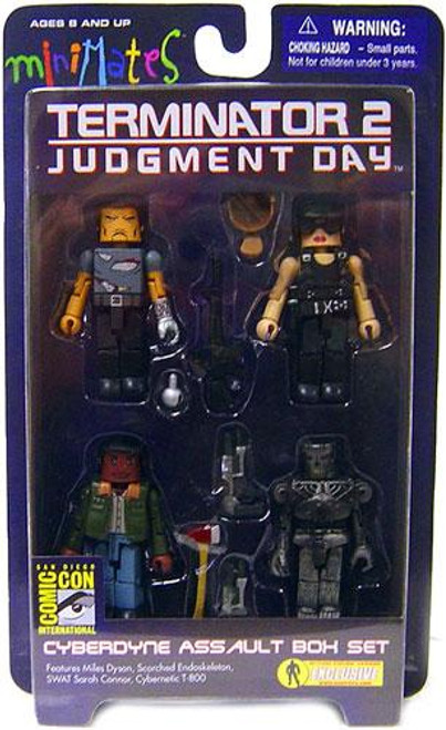 The Terminator Terminator 2 Judgment Day Minimates Cyberdyne Assault Exclusive Minifigure 4-Pack