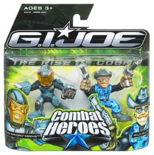GI Joe The Rise of Cobra Combat Heroes Ripcord & Wild Bill Mini Figure 2-Pack