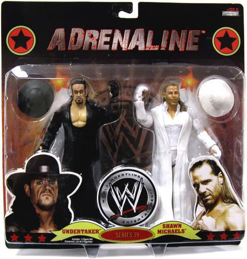 WWE Wrestling Adrenaline Series 39 Undertaker & Shawn Michaels Action Figure 2-Pack