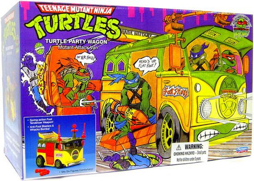 Teenage Mutant Ninja Turtles 1987 25th Anniversary Turtle Party Wagon Action Figure Vehicle