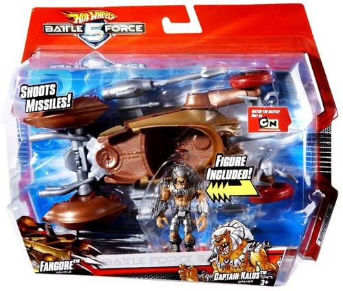 Hot Wheels Battle Force 5 Captain Kalus & Fangore Vehicle & Figure