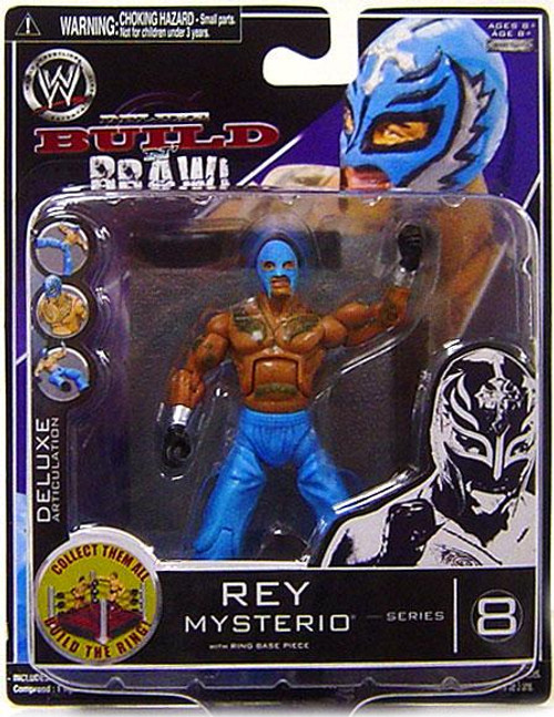 WWE Wrestling Build N' Brawl Series 8 Rey Mysterio Action Figure