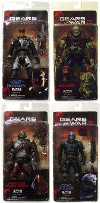 NECA Gears of War 2 Series 5 Set of 4 Action Figures