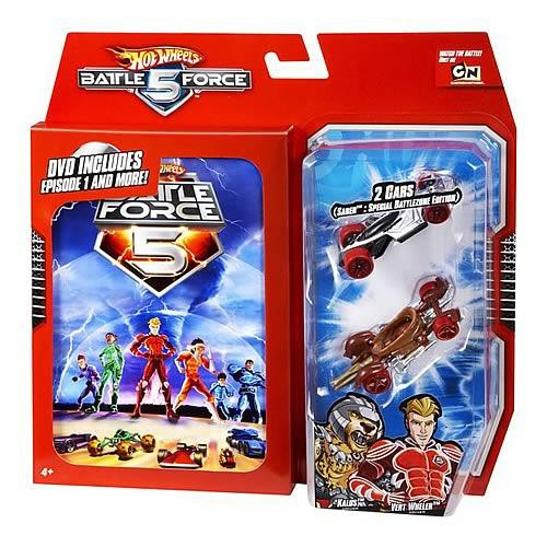 Hot Wheels Battle Force 5 DVD Diecast Vehicle 2-Pack