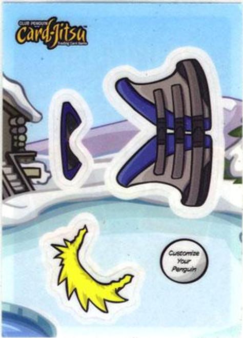 Club Penguin Card-Jitsu Life Jacket Sticker Card