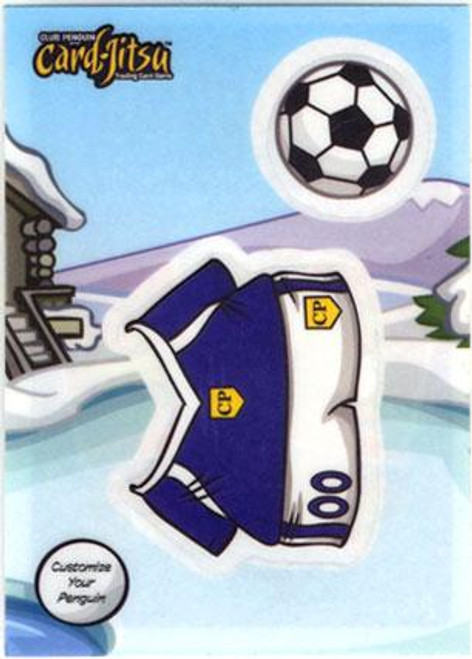 Club Penguin Card-Jitsu Soccer Sticker Card