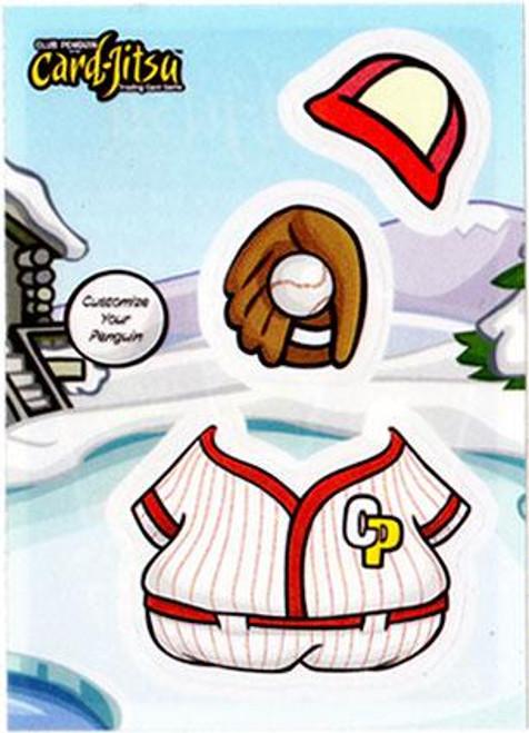 Club Penguin Card-Jitsu Baseball Sticker Card
