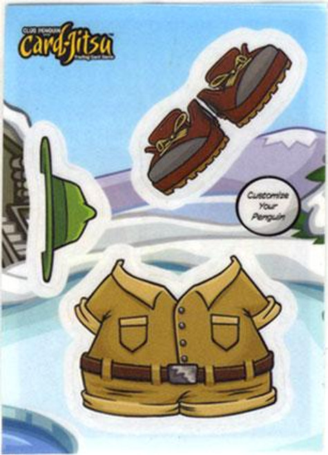 Club Penguin Card-Jitsu Explorer Sticker Card