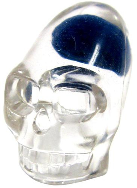 "Indiana Jones LEGO Minifigure Parts Trans Clear Skull with Blue ""Brain"" Minifigure Head [Loose]"