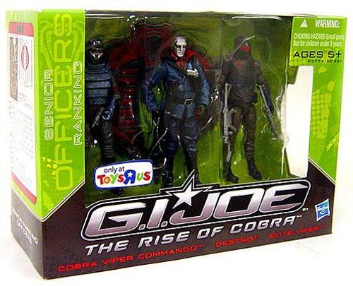 GI Joe The Rise of Cobra Cobra Viper Commando, Destro & Elite-Viper Exclusive Action Figure Boxed Set