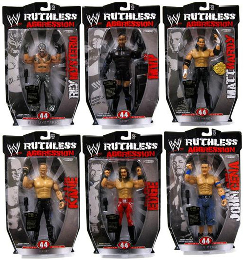WWE Wrestling Ruthless Aggression Series 44 Set of 6 Action Figures