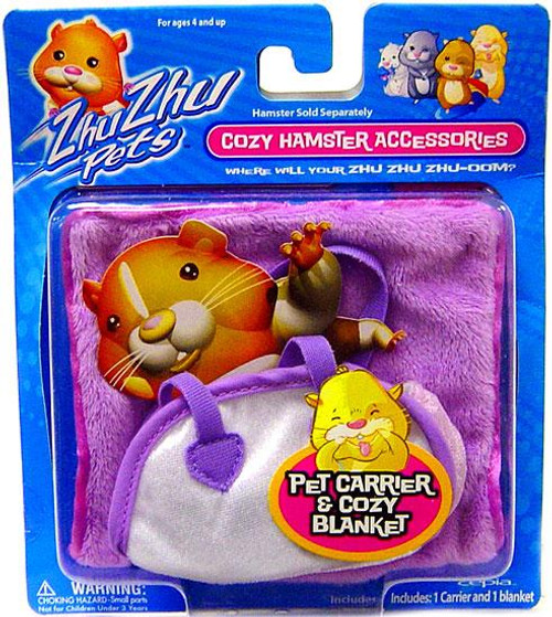 Zhu Zhu Pets Cozy Hamster Accessories Pet Carrier & Cozy Blanket Accessory Set [Purple]