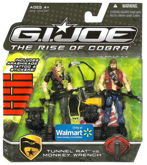 GI Joe The Rise of Cobra Tunnel Rat vs. Monkey Wrench Exclusive Action Figure 2-Pack