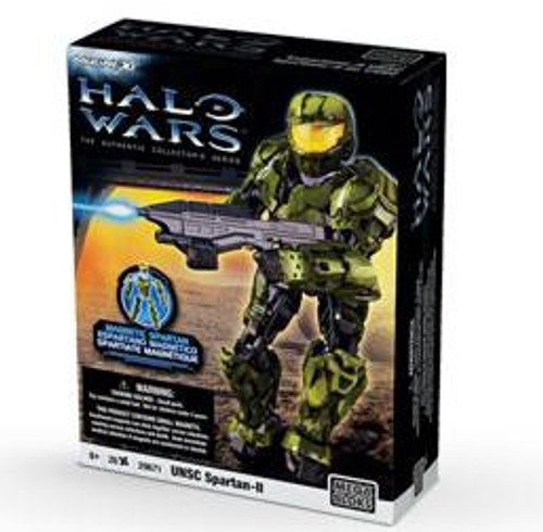 Mega Bloks Halo Magnetic Figures GREEN UNSC Spartan-II Set #29671