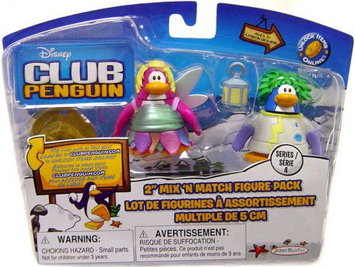Club Penguin Mix 'N Match Series 4 Rad Scientist & Faery Mini Figure Set