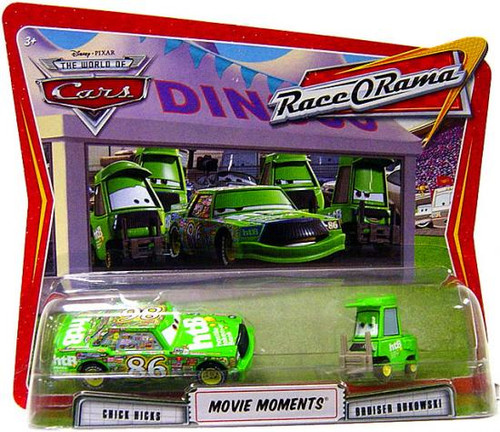 Disney Cars The World of Cars Movie Moments Chick Hicks & Bruiser Bukowski Diecast Car 2-Pack
