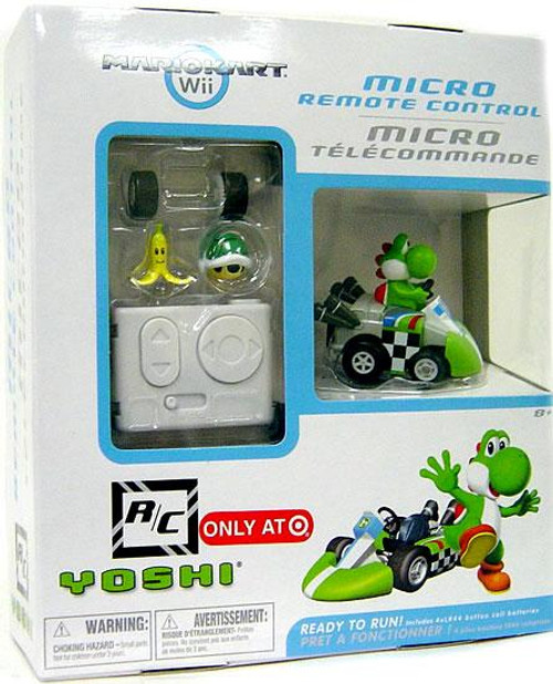 Super Mario Mario Kart Wii Micro Remote Control Yoshi Exclusive R/C Vehicle