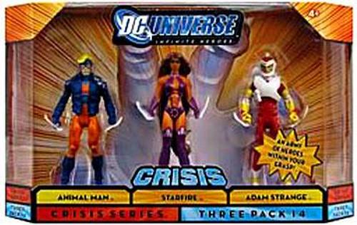 DC Universe Crisis Infinite Heroes Animal Man, Starfire & Adam Strange Action Figures #14