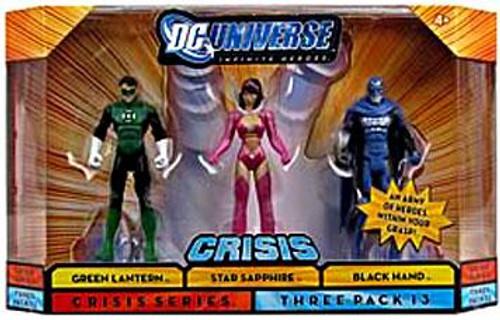 DC Universe Crisis Infinite Heroes Green Lantern, Star Sapphire & Black Hand Action Figures #13
