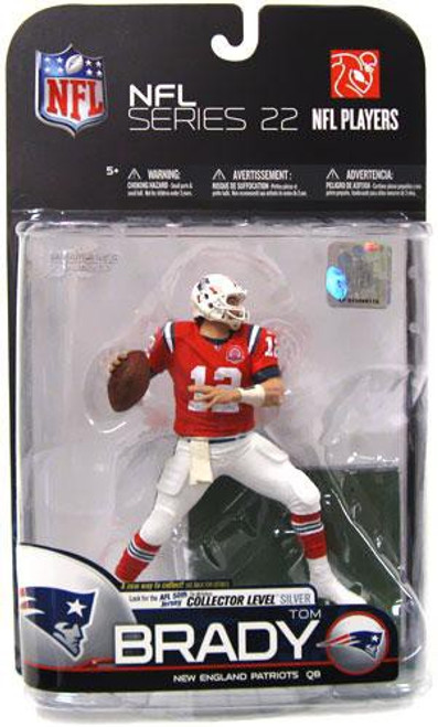McFarlane Toys NFL New England Patriots Sports Picks Series 22 Tom Brady Action Figure [Red AFL Jersey]
