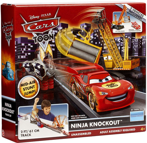 Disney Cars Cars Toon Playsets Ninja Knockout Diecast Car Playset