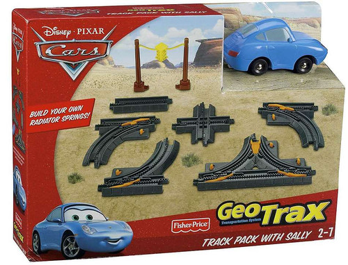 Fisher Price Disney Cars GeoTrax Track Pack With Sally GeoTrax Playset