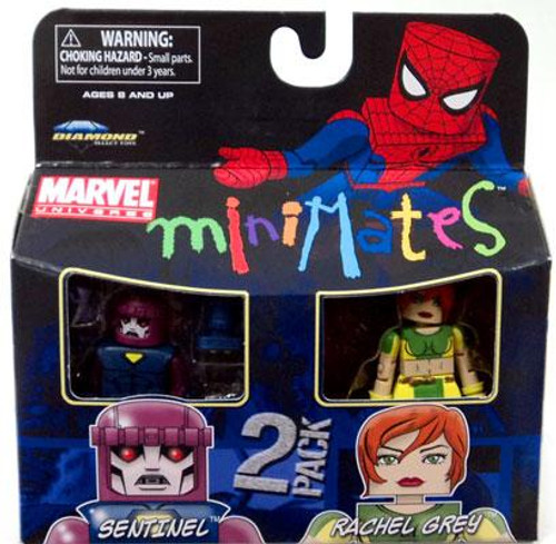 Marvel Universe Minimates Series 33 Sentinel & Rachel Gray [Marvel Girl] Minifigure 2-Pack