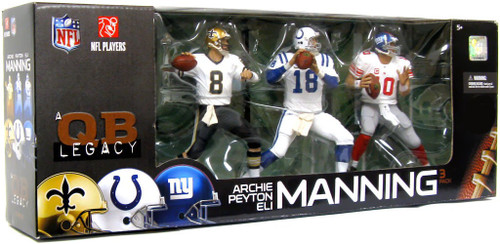McFarlane Toys NFL Sports Picks 3-Packs Manning Quarterback Legacy Exclusive Action Figure 3-Pack
