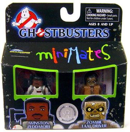 Ghostbusters Minimates Winston Zeddmore & Zombie Taxi Driver Exclusive Minifigure 2-Pack