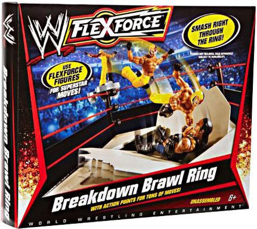 WWE Wrestling FlexForce Breakdown Brawl Ring Action Figure Playset