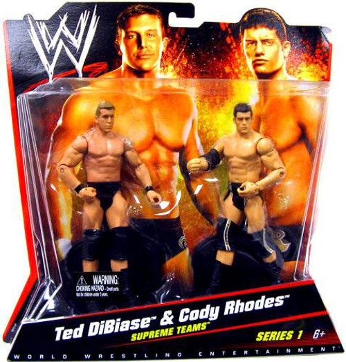 WWE Wrestling Series 1 Ted DiBiase & Cody Rhodes Action Figure 2-Pack