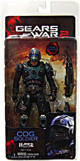 NECA Gears of War 2 Series 5 COG Soldier Action Figure [Shotgun & Lancer]